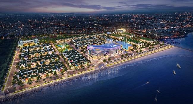 Phối cảnh tổng thể dự án khu phức hợp Queen Pearl Marina Complex