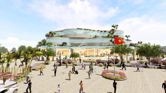 Phối cảnh khu thương mại - dịch vụ - giải trí rộng 8.102m2 tại Seaway Bình Châu