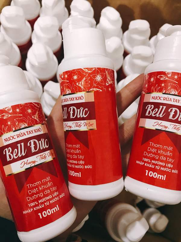 Nước rửa tay khô kháng khuẩn Bell Đức