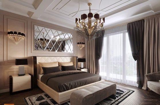Kính thủy trang trí Đại Nam Glass cho phòng ngủ
